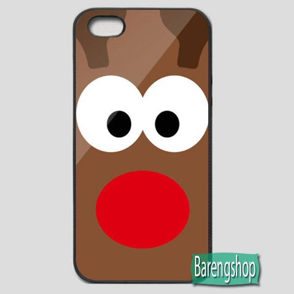Rubber Case Rudolph the Red Nosed Reindeer Christmas iPhone 5 or 5S