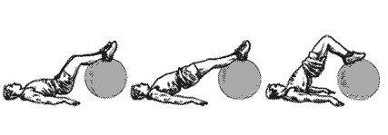 exercice avec ballon de gym pour les dorsaux et les fessiers