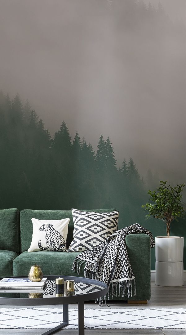 THESE COLORS. The Murals Wallpaper collection of misty forest wallpapers will fill your home with a tranquil aura and allow you to create a moody ambiFrom crisp morning mist in a rainforest setting to melancholy Scandinavian forests, these prints will bring Mother Nature's beauty right into your home.