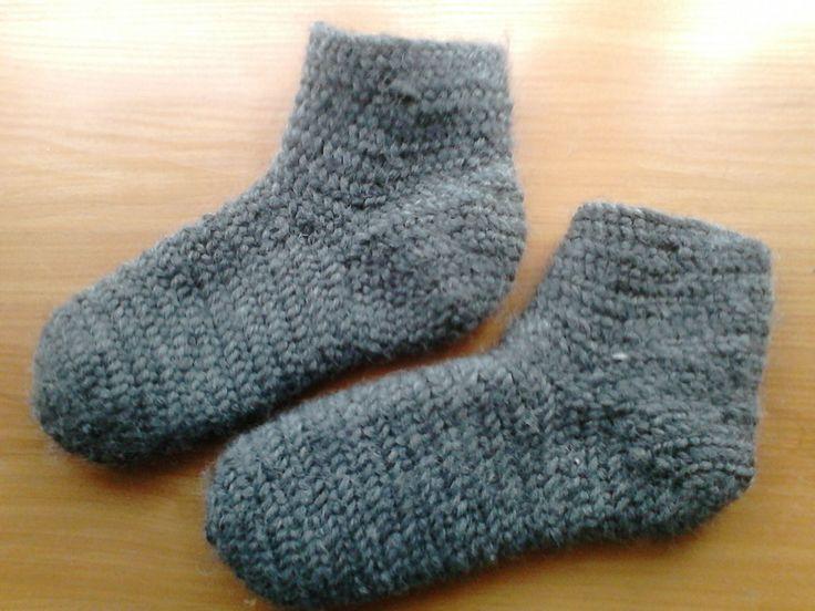 Nålebinding socks. Oslo stitch. hand-made. 100% wool.   (Also Naalbinding/needle-binding)