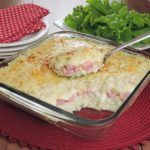 Enformado de batata com presunto e queijo