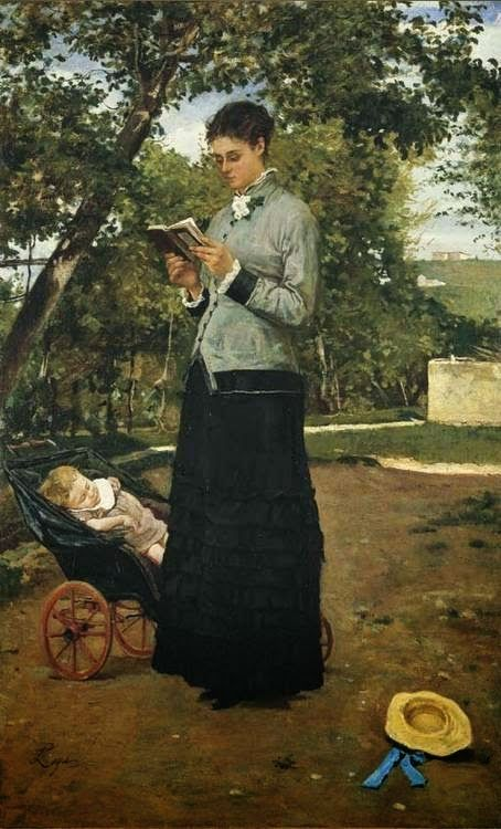 Silvestro Lega  born December 8, 1826 in Modigliana, Italy died September 21, 1895 (68) in Florence, Italy