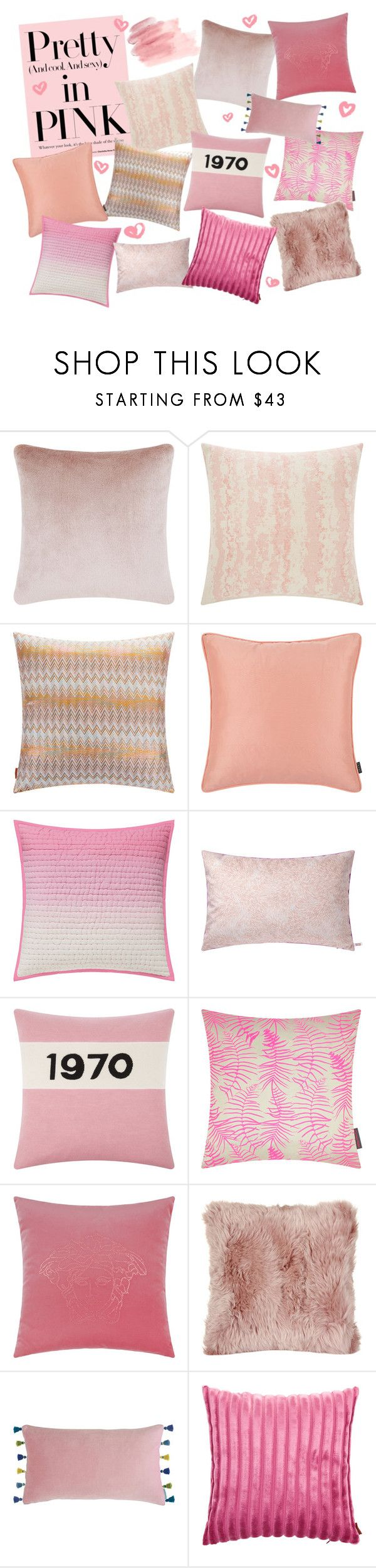 """""""Pretty in pink"""" by amara ❤ liked on Polyvore featuring interior, interiors, interior design, home, home decor, interior decorating, Tom Dixon, A by Amara, Missoni Home and Designers Guild"""