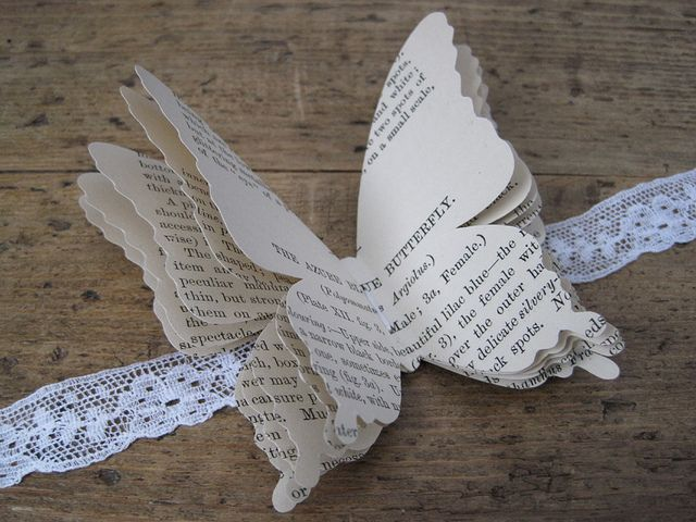 vintage paper butterfly