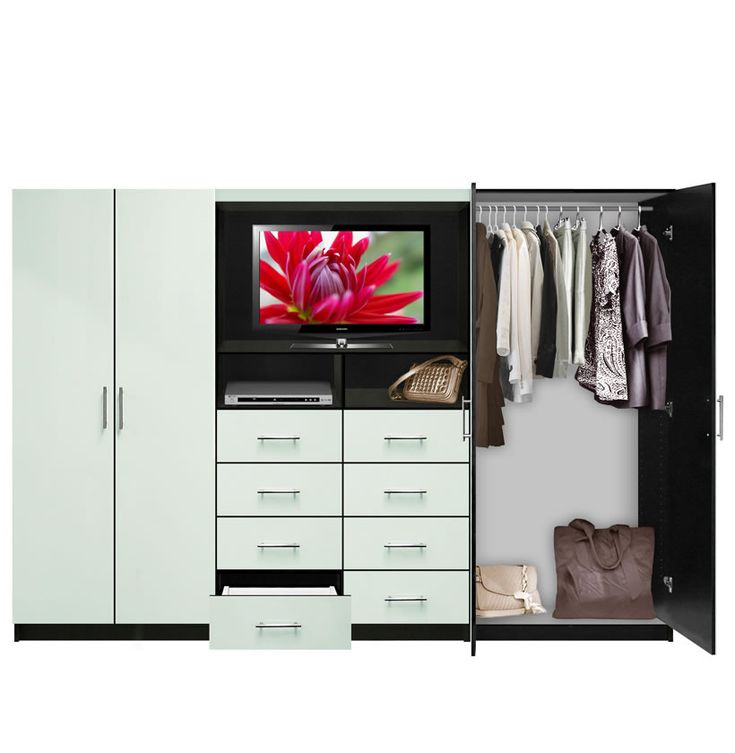Aventa TV Wall Unit For Bedrooms   Bedroom Wall Unit 8 Drawer 4 Door |  Contempo