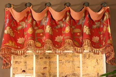 valance for kitchen idea