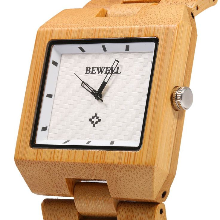 Bewell Wood Watch Men Fashion Wrist Watch, Wooden Band Rectangle Dial Analog Wristwatches, Water Resistant Casual Watches-in Quartz Watches from Watches on Aliexpress.com | Alibaba Group