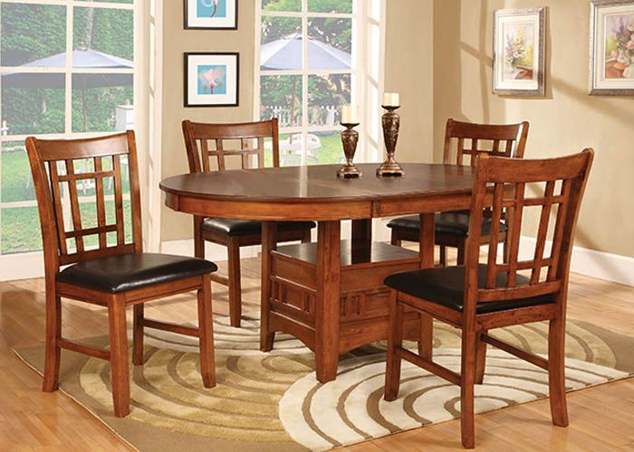 11552 Oak Dining Table And Chairs