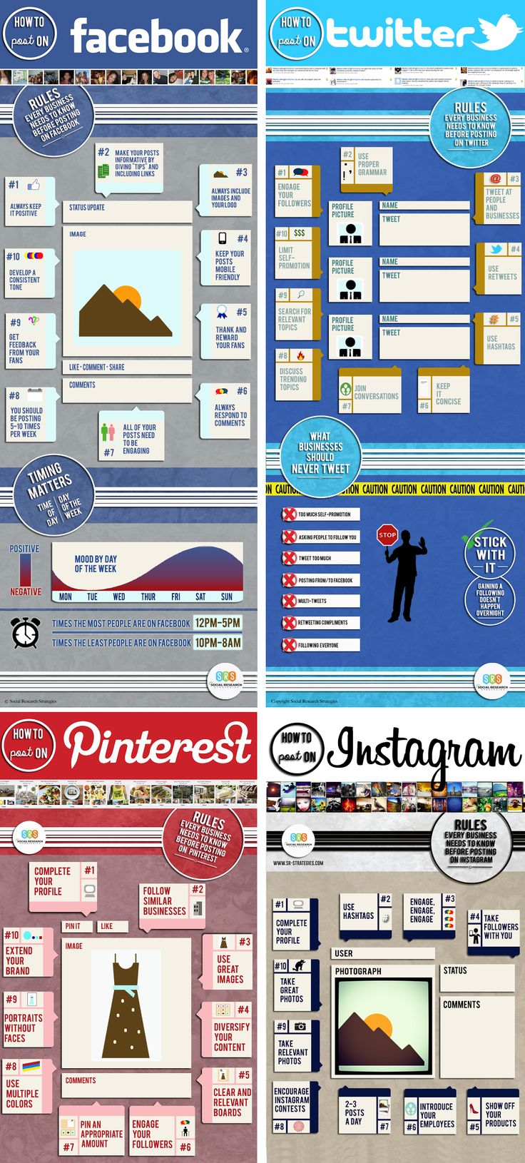 10 rules for posting on #socialmedia #infographic