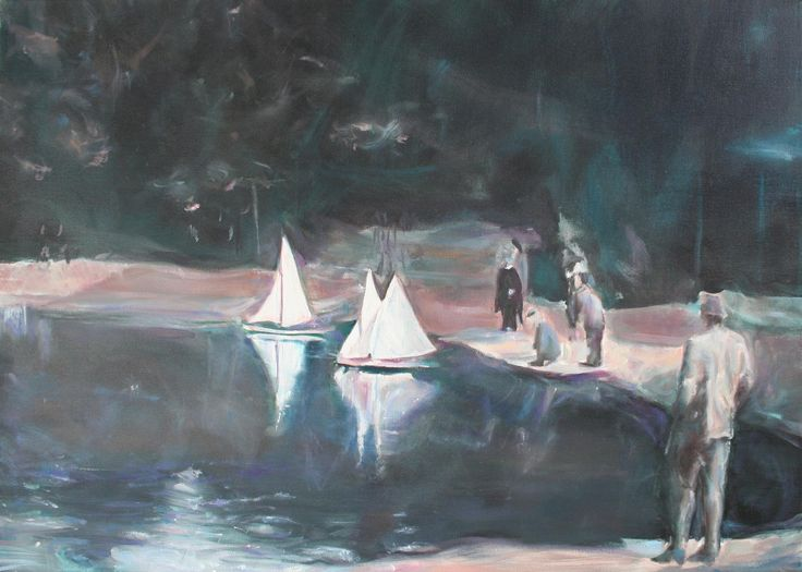 'Floating steps' by Alexandru Cinean Oil on canvas; 50 x 70 cm; 2012. Alexandru is an art student of University of Art and Design from Cluj Napoca, Romania.  Check out more on http://www.studentartworks.org/autorzy/2594/.
