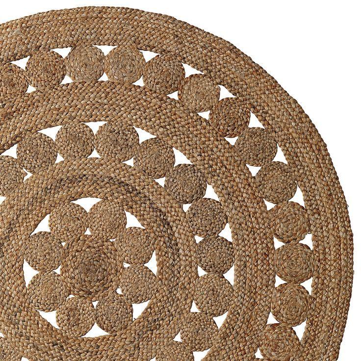 Round Jute Rug Serenaandlily Textiles Pinterest