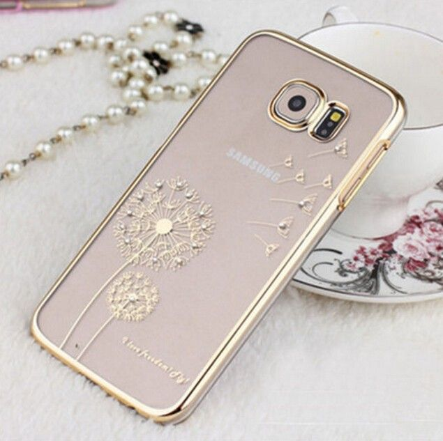 Luxury & Fashion Dandelion Diamond Case Protective Cover for Samsung Galaxy S6 Edge Plus Note 4 5