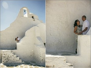 Yiannis Sotiropoulos photographer, Mykonos walk with Mary Kate and Joe....