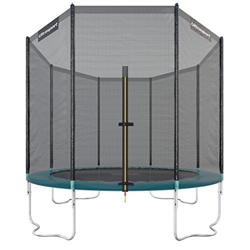 From 138.16 Ultrasport Garden/outdoor Trampoline Jumper With Safety Net - 305 Cm Green