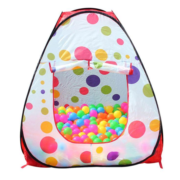 Tragbare Nette Sechseck Bunte Tupfen Kinder Laufstall Bällebad innen und Außen Einfache Faltender Spielen Zelt Haus mit Tote tasche