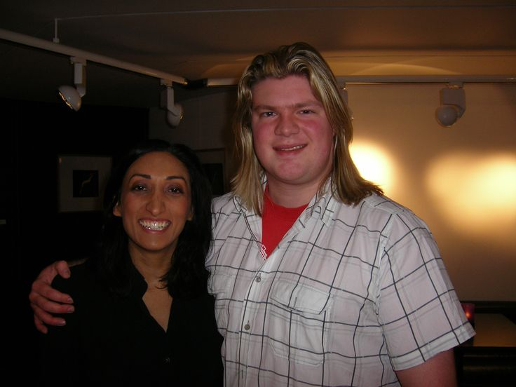 With Shazia Mirza at Dundee Rep, March 2009.