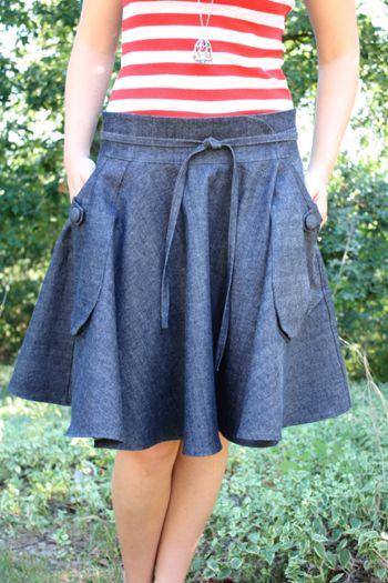 Love this skirt!: Jeans Style, Jean Skirts, Skirt Tutorial