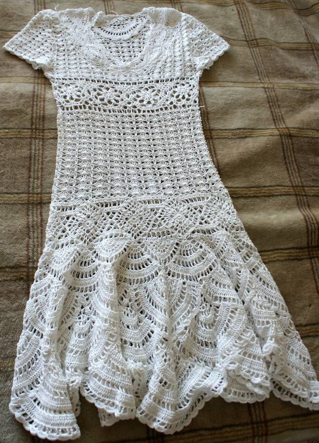 Snow dress for Christmas, crochet patterns