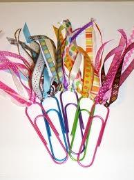 Cute idea for bookmarks.
