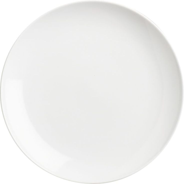 "Essential 8"" salad plate from Crate and Barrel. Makes an excellent smaller dinner plate."