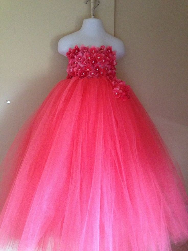 Tutu Flower Girl Dress. $65.00, via Etsy.