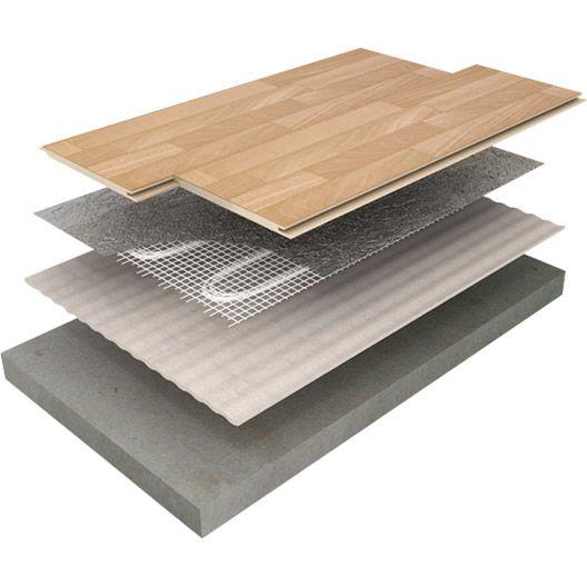 Plancher chauffant électrique EQUATION FMD 150 9m² 1350W, 1800x50cm