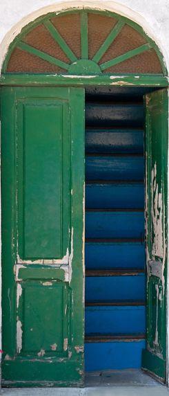 Groene deur Deurposter - Deuren pimp je deur
