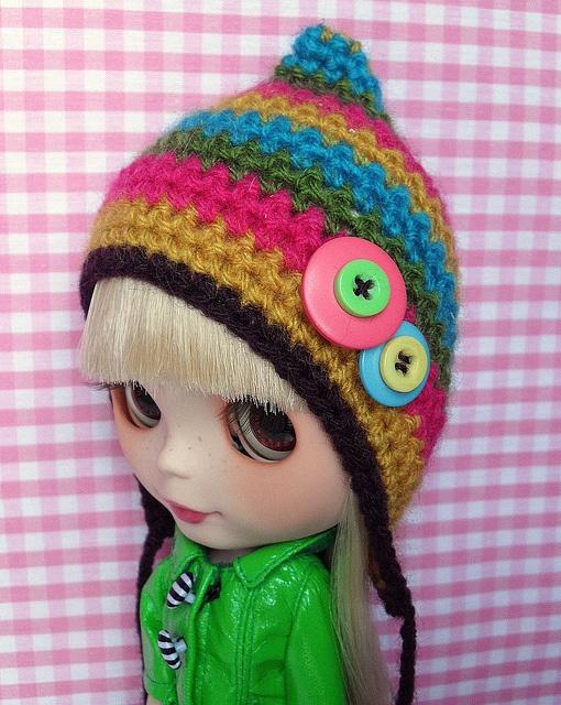 Crochet Hat Pattern For Blythe : 17 Best images about Blythe patterns on Pinterest Poncho ...