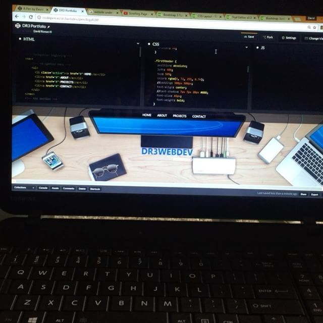 Monday afternoon coding with great music to accommodate the settings. Great music sets the tone for anything and everything in my life. Without music my life is undefined. #iCode #webdev #webdeveloper #webdesign #code #code4life #html5 #css3 #javascript #bootstrap #jquery