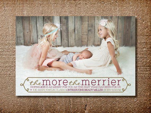 Christmas Birth Announcement Christmas Card More by PinchOfSpice
