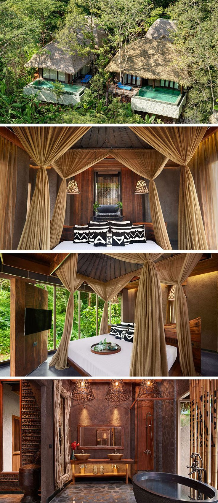 Travel Idea - The Clay Pool Cottages at Keemala (resort in Thailand) were inspired by the Pa-Ta-Pea clan who valued nature and the earth above all else. This was incorporated into the design by making the walls of these cottages from clay and dirt and including other natural materials, like wood and stone, into the interior as well.