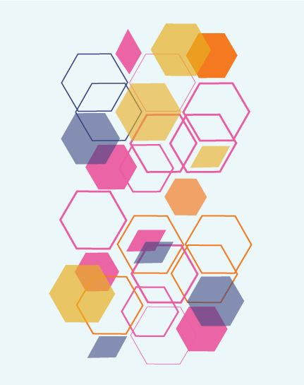 art prints - Geometric Beehive by Morgana Lamson