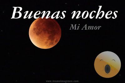 Imagen de luna roja, buenas noches mi amor