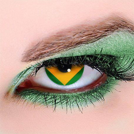 Linsen Brasilien Flagge
