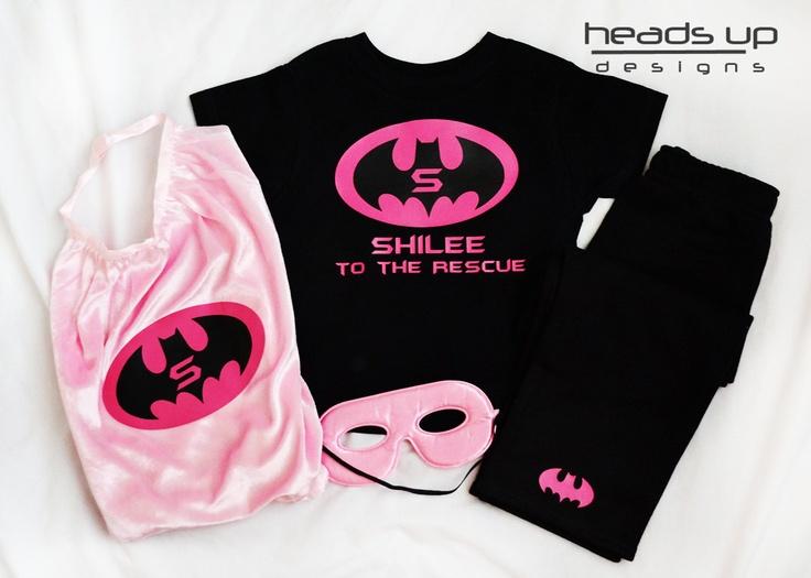 Girl Batman Cape - Personalized Girl Batman Cape -Toddler Girl Superhero Pajamas - Super Hero Cape Girl - Batman Costume Girl Customized -. $37.00, via Etsy.