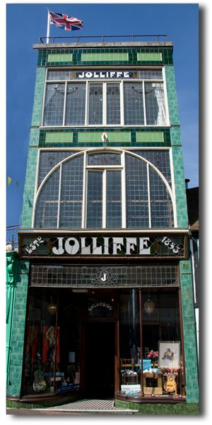 Jolliffe in Cowes, isle of Wight was originally a shoe shop up until the late 1980s. Shoes dating from 1860 to the 1960s were found when the shop was cleared and are now in Carisbrooke Castle museum.