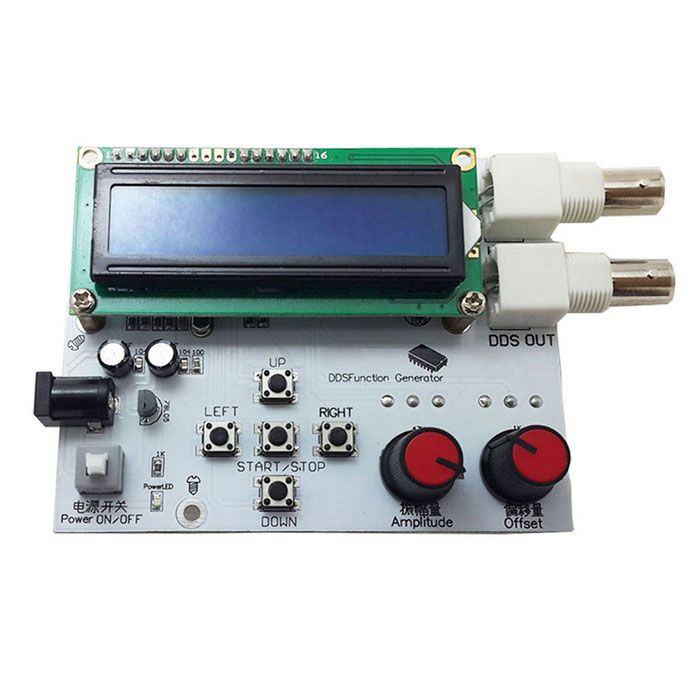 Low Voltage Signal Generator : Quot lcd low frequency dds signal generator white