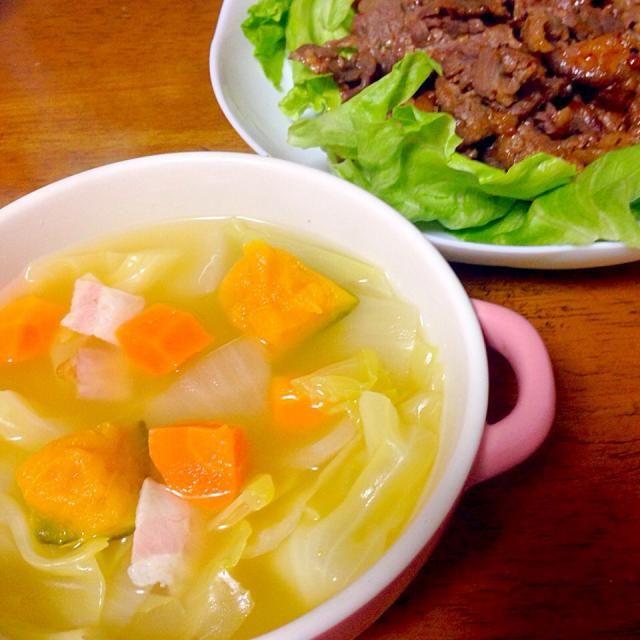 じゃがいもがなかったからカボチャ! - 3件のもぐもぐ - 野菜スープ by iuiuiu516uka