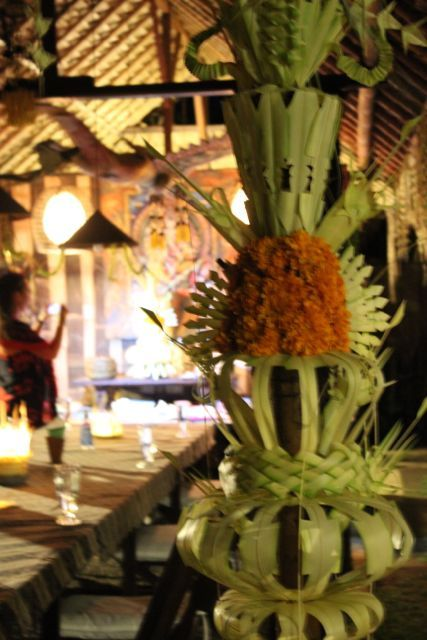 coconut leaves woven into stunning decorative objects for our celebration nights