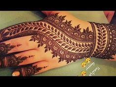 Stunning and beautiful mehndi design for backhand |easy mehndi designs for beginner | - YouTube