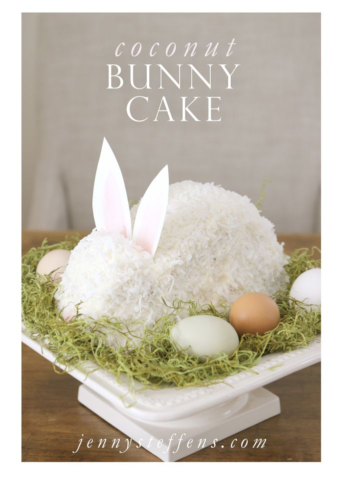 Jenny Steffens Hobick: Easter Bunny Cake | Continuing Granny's Tradition | Coconut Cake