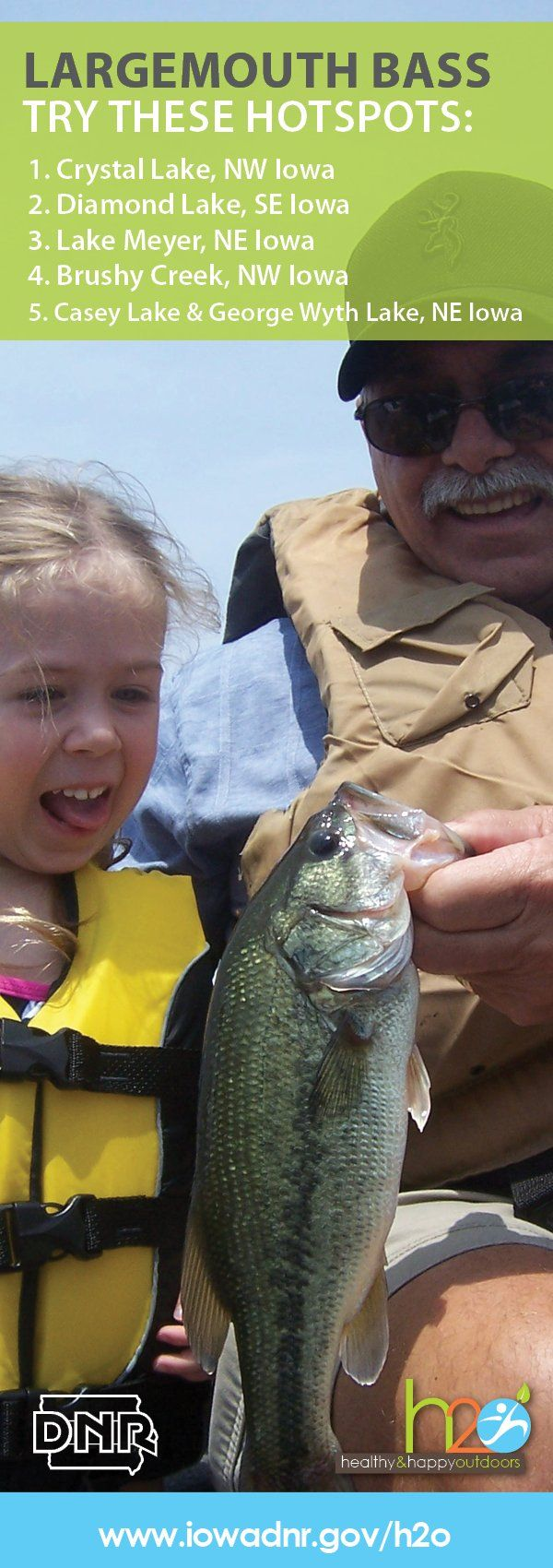 Five great Iowa spots for largemouth bass.