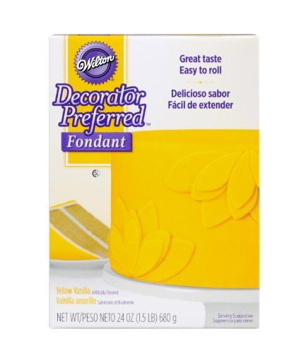 Wilton 710-2308 Decorator Preferred Fondant, 24-Ounce, Yellow - Our Decorator Preferred Fondant Offers optimal balance of taste, texture and functionality. Our fondant is ready to roll and shape, making it the easiest way to create an elegant fondant cake. The 24 oz. package covers an 8 inch 2 layer cake plus decorations.
