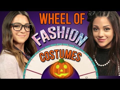 1 Minute Halloween Costume Challenge with Niki and Gabi #WheelOfFashion - YouTube