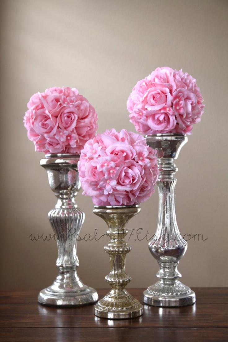 Wedding flower ball centerpieces / Actual Deals