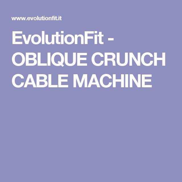 oblique crunch machine