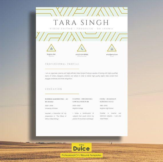 Resume Elegant Resume Design Creative CV Design por introDuice