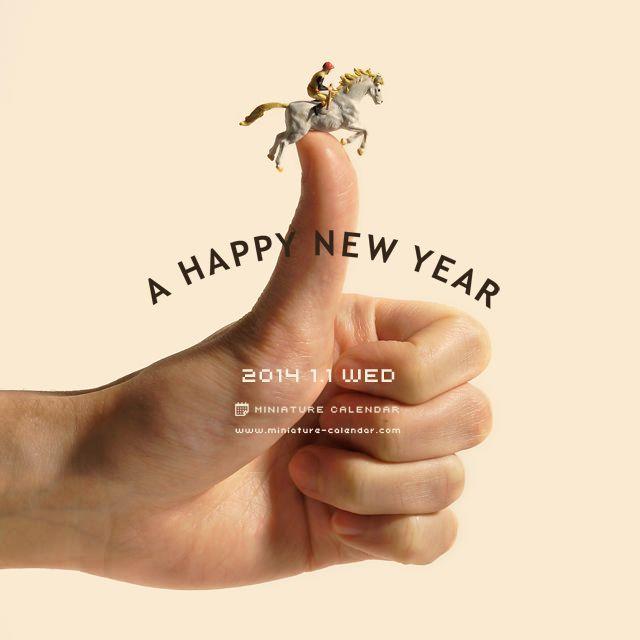 Miniature calendar 01JAN2014 | 田中達也 Tanaka Tatsuya