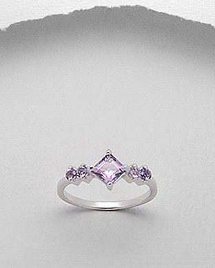 Inel  argint &  ametist ring