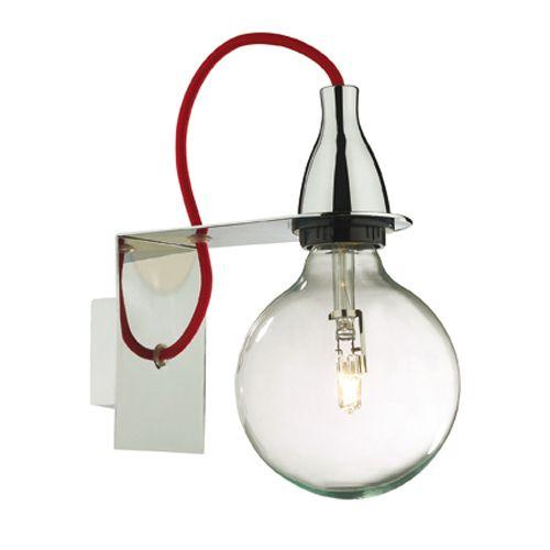 Applique murale en métal coloré ampoule Minimal : Decoclico